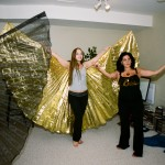 Armineh and Kendra work with the Isis wings