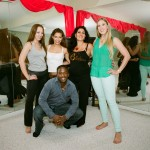 A group shot of Ian, Kaleena, Kendra, Eileen and Armineh